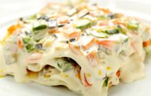 Lasagne con verdure e formaggio