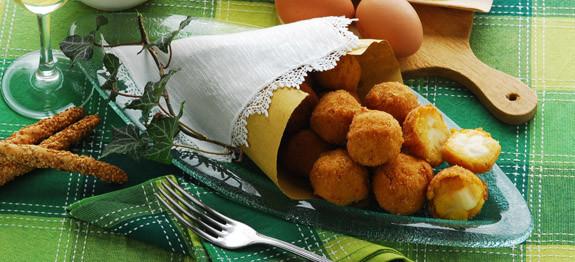 Crocchette al taleggio e polenta - antipasto lombardia