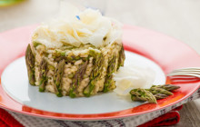 Risotto con asparagi e raspadura