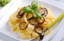 Pappardelle con zucchine