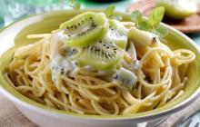 Spaghetti al kiwi