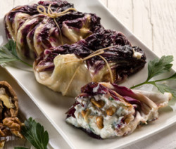 chicory stuffed with ricotta parsley and nuts,vegetarian food