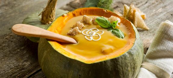 Zuppa di zucca nella sua forma originale