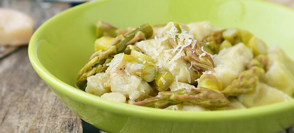 Gnocchi con asparagi