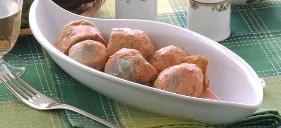 Carciofi in salsa di zucca
