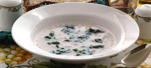 Zuppa d'orzo con ortica