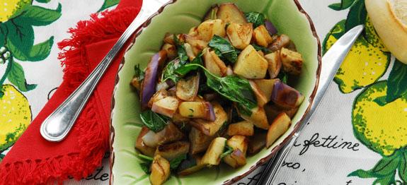 Melanzane trifolate all'aglio e basilico