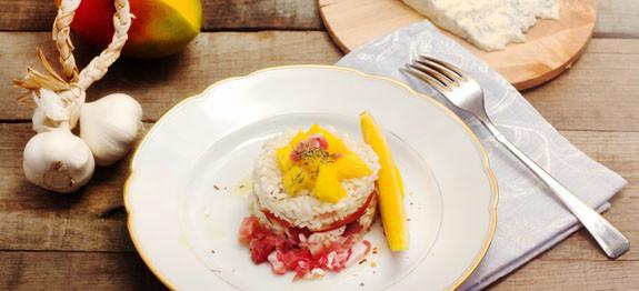 Risotto con mango e gorgonzola