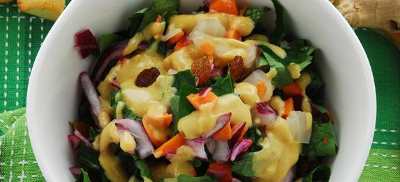 Finocchi e spinaci alla senape