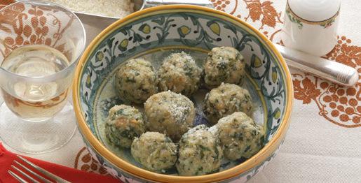 Canederli con spinaci